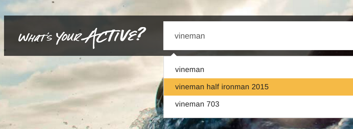 Vineman autosuggest