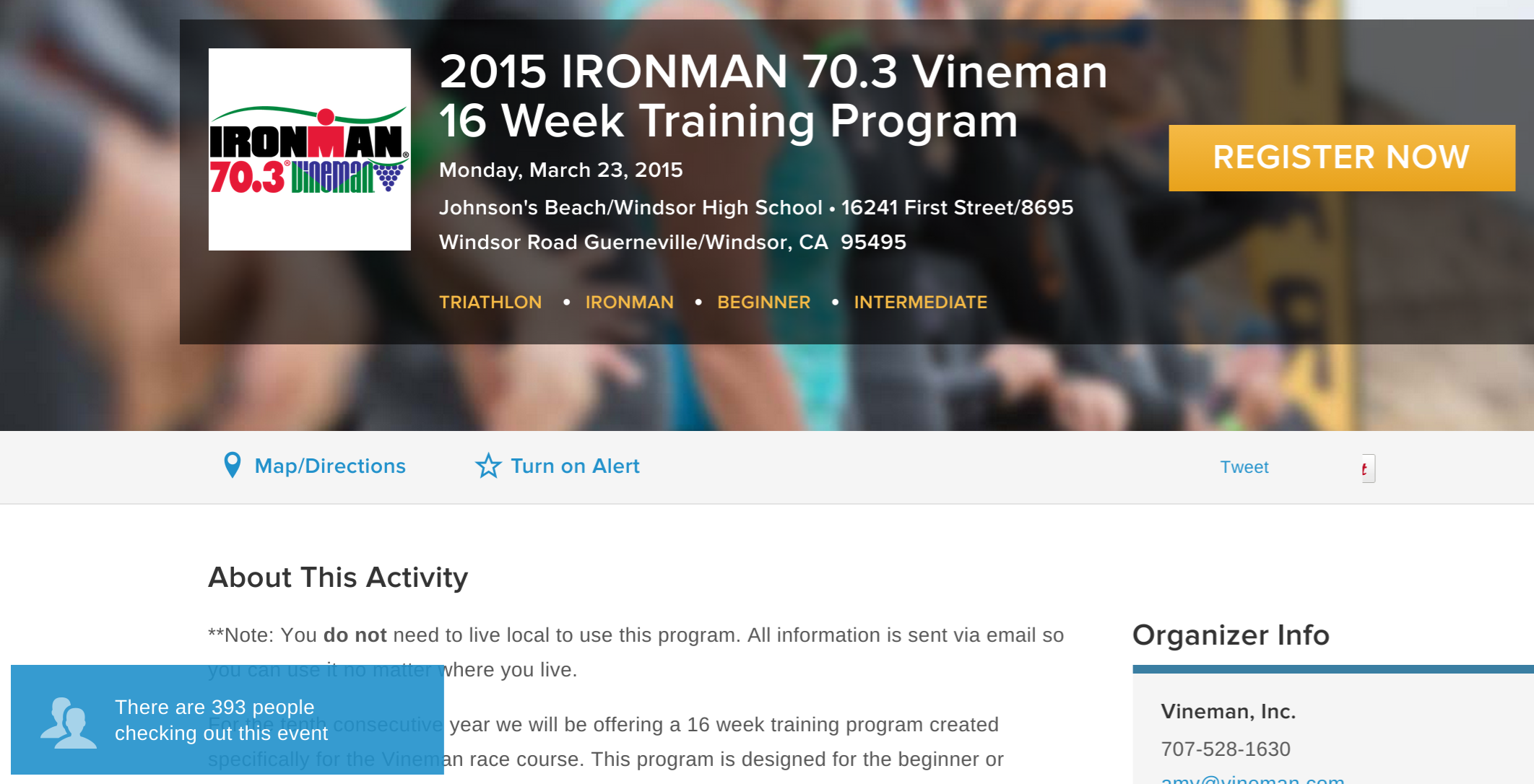 Vineman training program