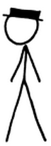 Black hat stick man from xkcd