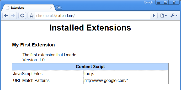 Chrome UI extensions