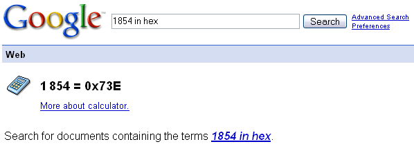 Convert decimal to base 16