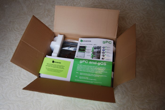 green PC box opened