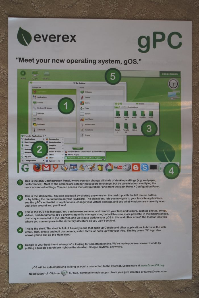 green PC box flyer
