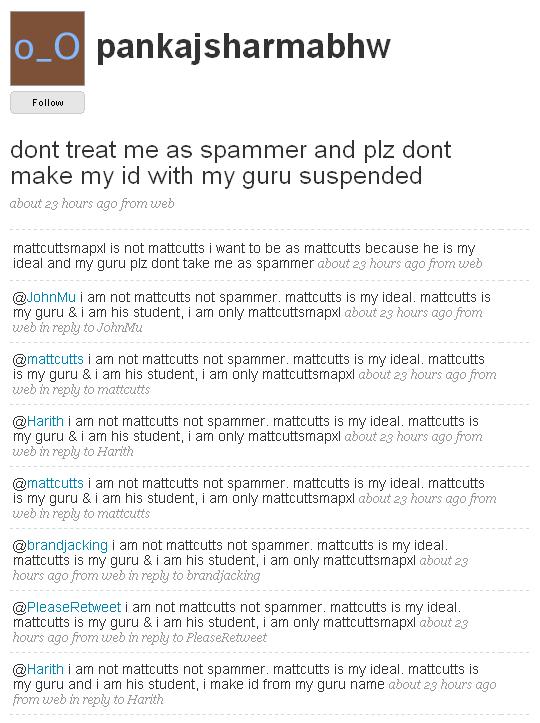 I am not a spammer!