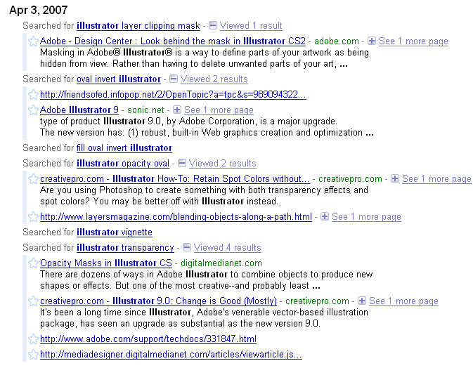 An example of web history