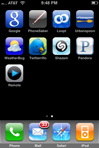 My iPhone 3G applications