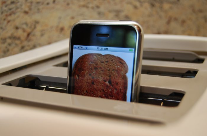 iPhone in toaster