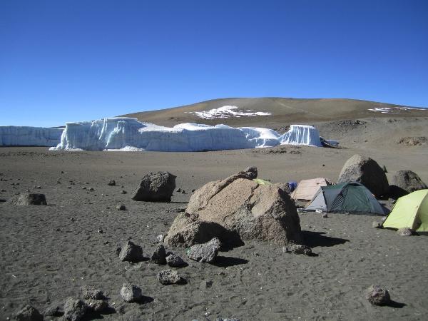 Kilimanjaro glacier at 18,000+ feet