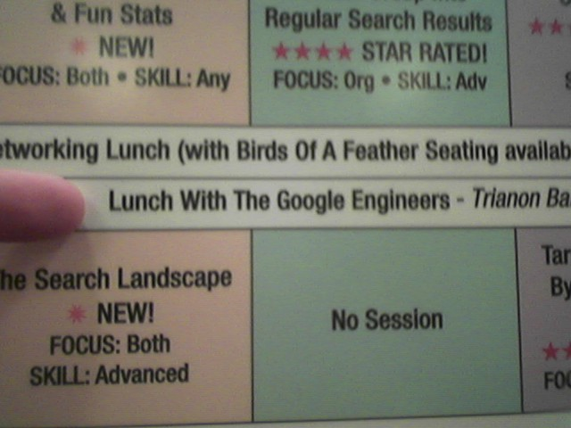 Lunch with Googlers