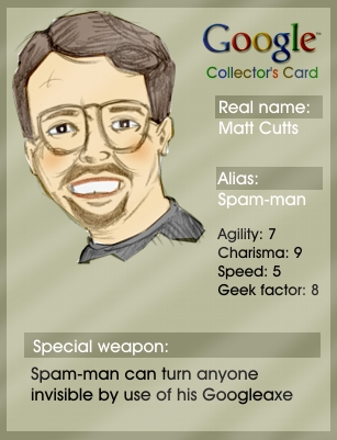 Matt Cutts trading card
