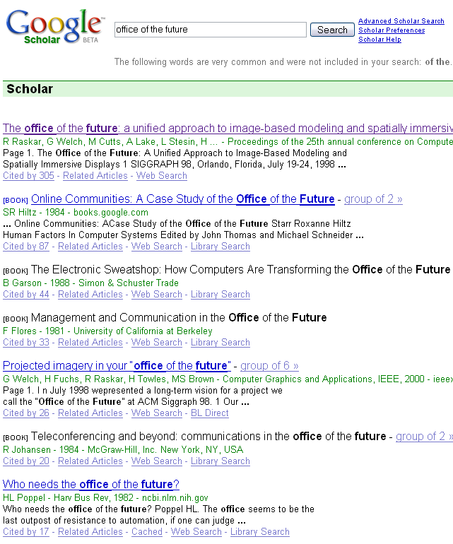 Search results for office of the future