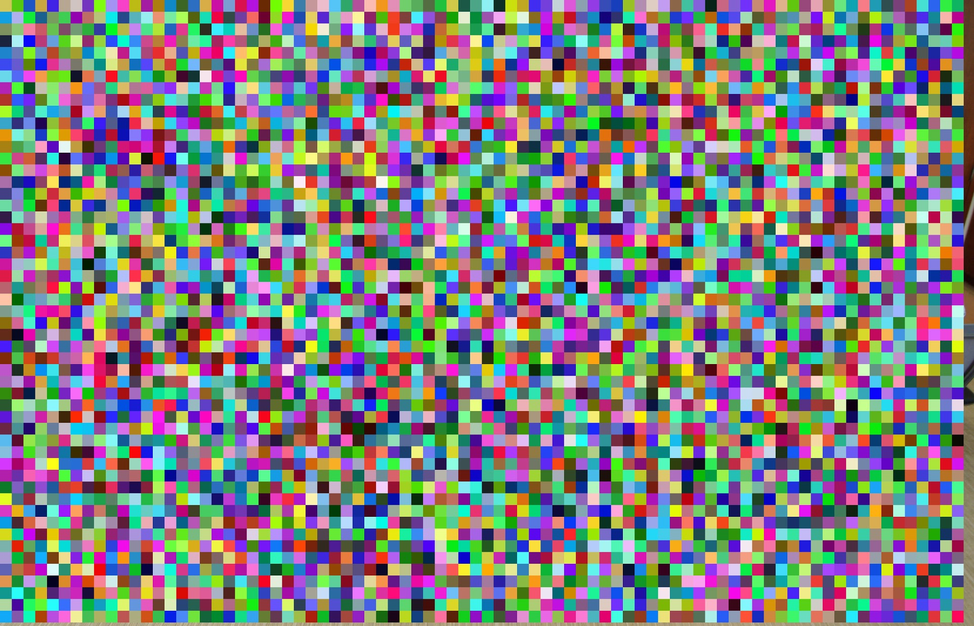 Random mosaic from converting a 16 bit-range color to uint8