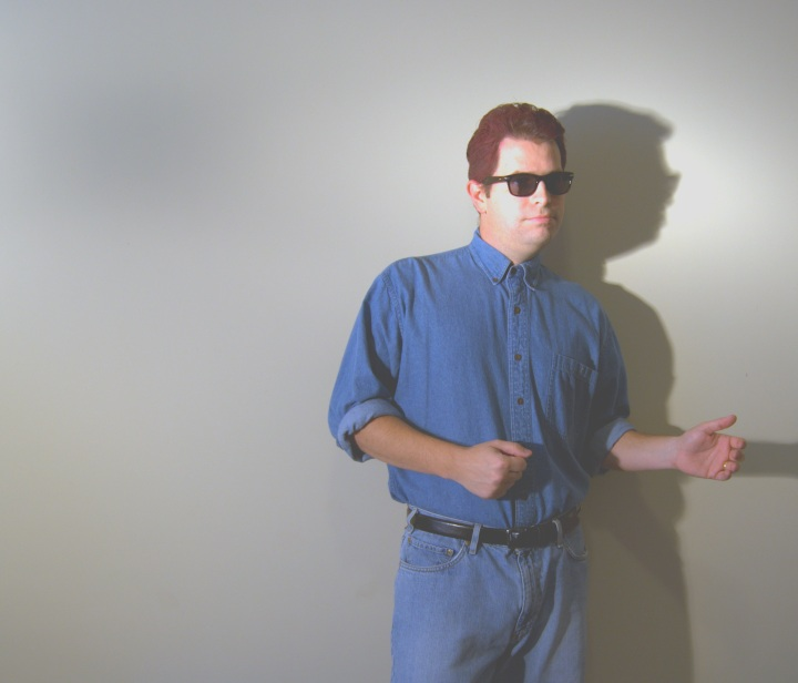 Matt Cutts as Rick Astley in blue jeans