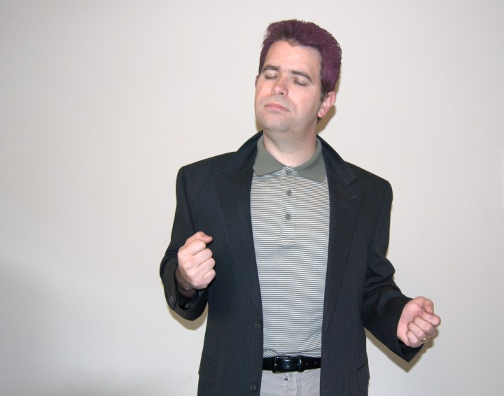 Matt Cutts as Rick Astley in suit
