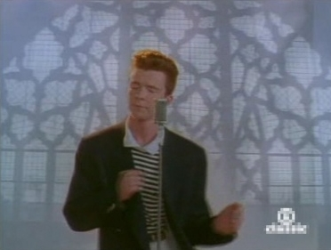 Rick Astley in suit