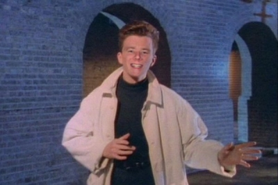 Rick Astley in trenchcoat