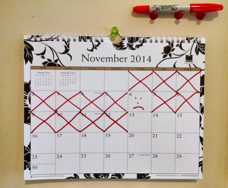 Showing a streak in the calendar