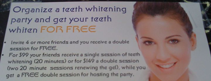 Los Angeles Signs: teeth whitening party
