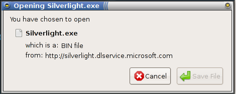 Silverlight .exe on a Linux computer = sadness