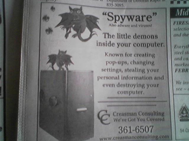 Spyware demons!