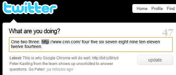 Twitter Chrome bug